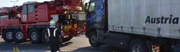 LKW Bergung - Kreisverkehr BauMax
