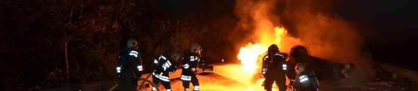 Fahrzeugbrand auf der B119