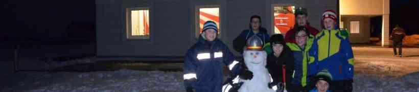Feuerwehrschneemänner