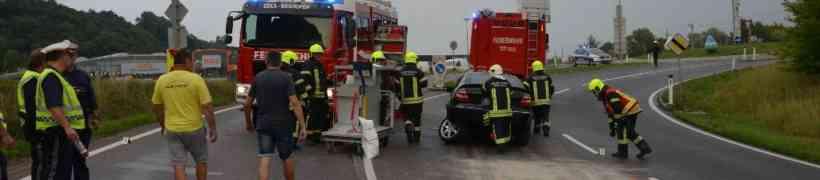 Verkehrsunfall beim Obi Kreisverkehr