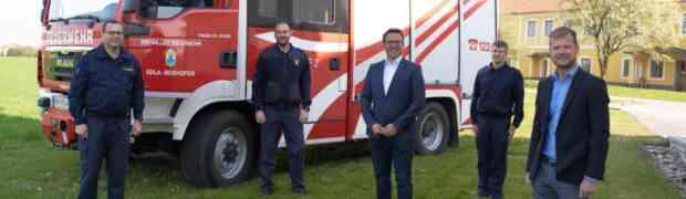 Neue Fahrzeughalle für die Freiwillige Feuerwehr Edla-Boxhofen